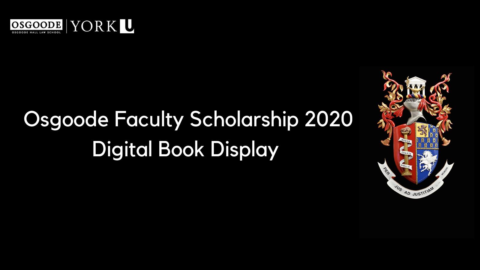 Osgoode Faculty Scholarship Digital Book Display Banner